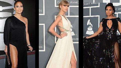Lábvillantás – a Grammy-gála legszebb ruhái