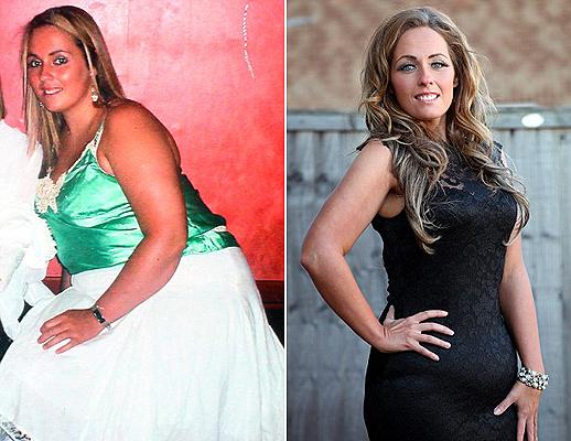 A fogyás előtt és után