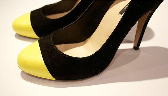 Csináld magad: színes orrú cipő