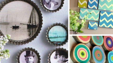 Csináld magad: kreatív képek az üres falra