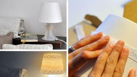 Csináld magad: csipkés lámpa