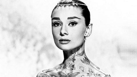 Ilyen lett volna Audrey Hepburn széttetoválva!