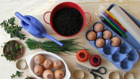 Csináld magad: tojáshéjból húsvéti mini virágcserép