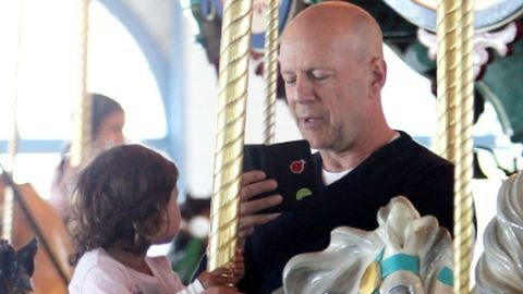 Tündéri fotók Bruce Willisről és kislányáról
