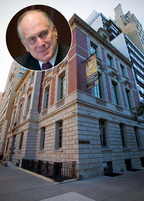 Neue Galerie New York épülete és Ronald Lauder