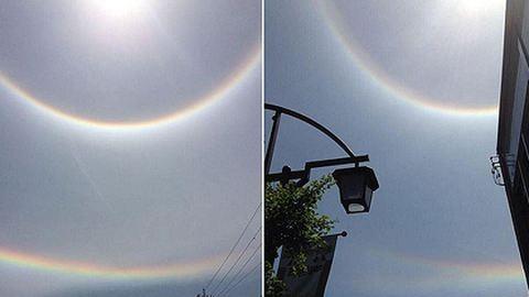 Fordított szivárvány tűnt fel az égen – elképesztő fotók