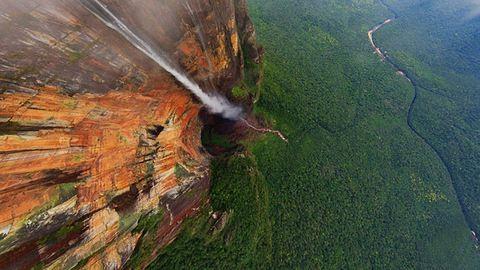 Így néz ki a világ legmagasabb vízesése felülről – fotók