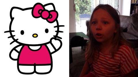 Kiborult a kislány, mert Hello Kitty nem macska – videó