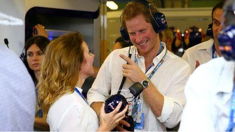 Egykori Spice Girllel flörtölt Harry herceg az Abu-Dhabi Nagydíjon