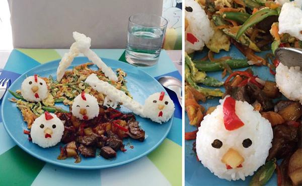Elképesztő tálalja az ételeket a négygyermekes anya - fotók