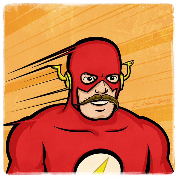 Így néznének ki a szuperhősök bajusszal!