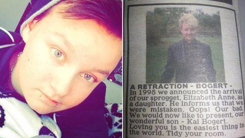 Újsághirdetésben álltak ki a szülők nemváltó műtéten átesett gyermekük mellett
