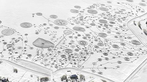 Műalkotást gyalogoltak a hóba – lélegzetelállító fotók