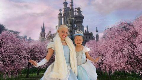 Hercegnős fotózást kapott a beteg kislány