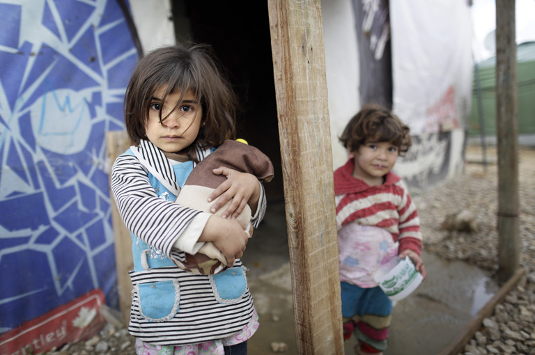 Szíriai menekülttábor (Fotó: Getty Images/Thomas Koehler)