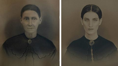 Családja előző generációinak nő tagjaivá alakult át a fotós – galéria
