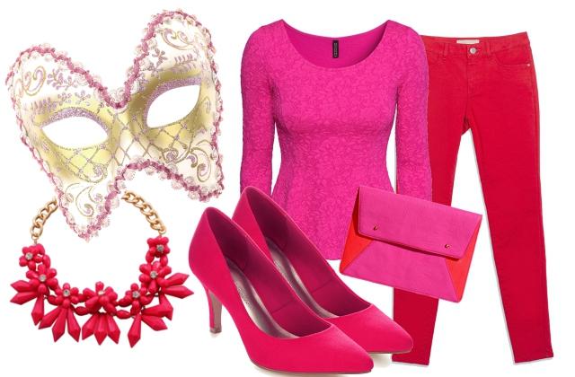 Top, táska: H&M, nadrág: Zara, maszk: Claire's nyaklánc: Bijou Brigitte cipő: Marks&Spencer
