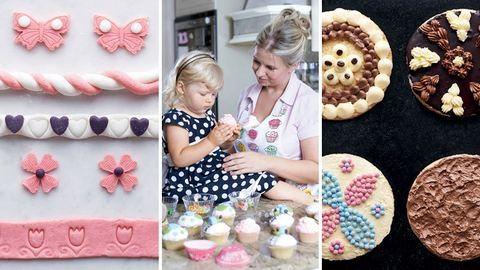 Csokicsigák, tésztavirágok: képes útmutató az édességek díszítéséhez