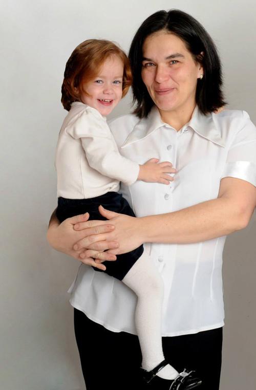 Pécsiné Medgyesy Brigitta és lánya Bianka