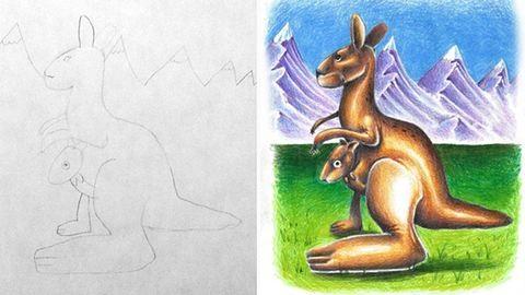 Gyerekei rajzait színezi ki az apa – galéria
