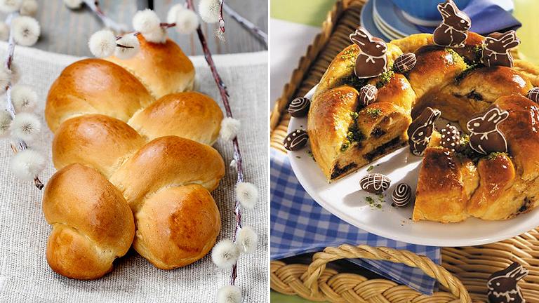 A klasszikus és a csokis húsvéti kalács