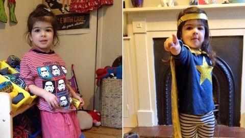 Egy hétig a 3 éves kislány állíthatta össze az öltözékeit – fotók