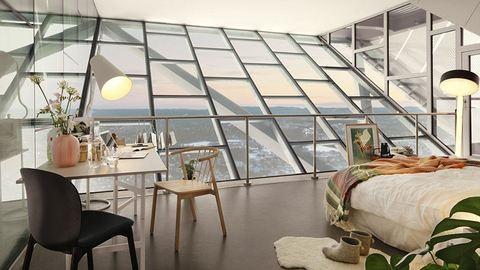Luxuslakást rendeztek be a sísánc tetején – fotók