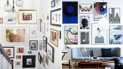 Hogyan tegyük ki a családi fotókat a falra?