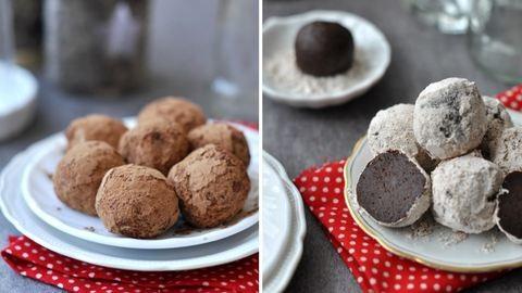 Falatnyi édességbombák: csokigolyó és mandulás gombóc