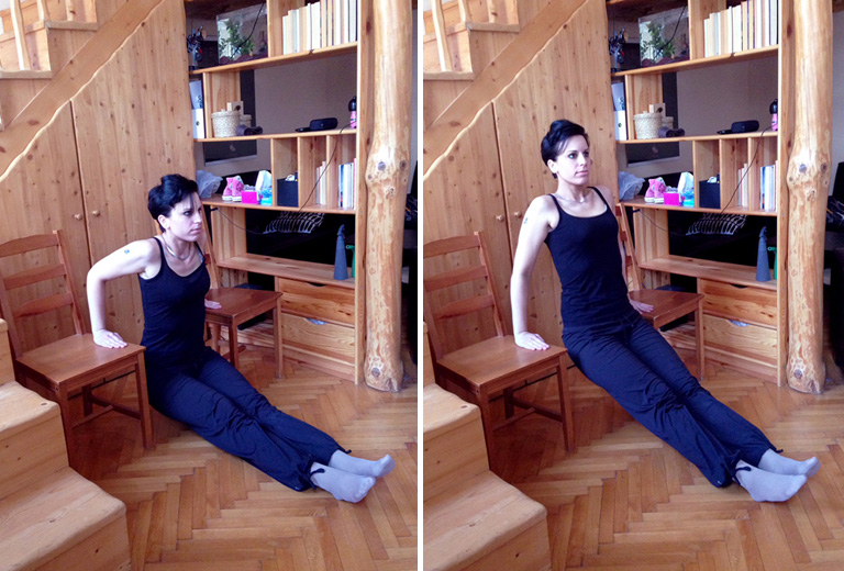 tricepsz két székkel