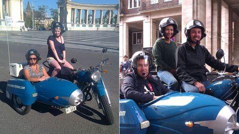 Rendhagyó városnézés Budapesten: kipróbáltuk az oldalkocsis motorozást