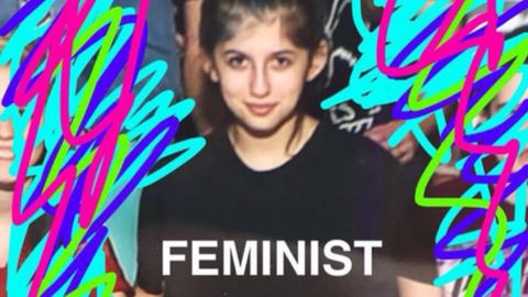 Kiretusálták az osztályképről a feminista feliratot