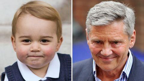 Szuper képek: kiköpött Middleton nagypapa a 21 hónapos György herceg