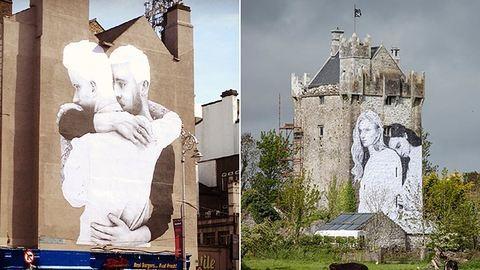 Falfestményekkel kampányol egy ír művész az azonos neműek házasságáért – fotók
