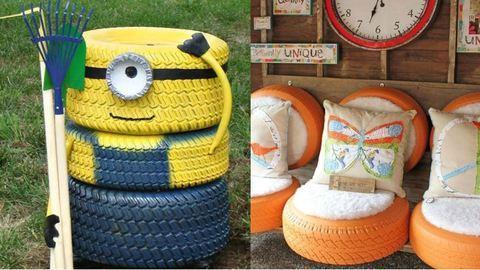 20 brilliáns ötlet, amit újrahasznosított autógumiból készíthetsz el – képek