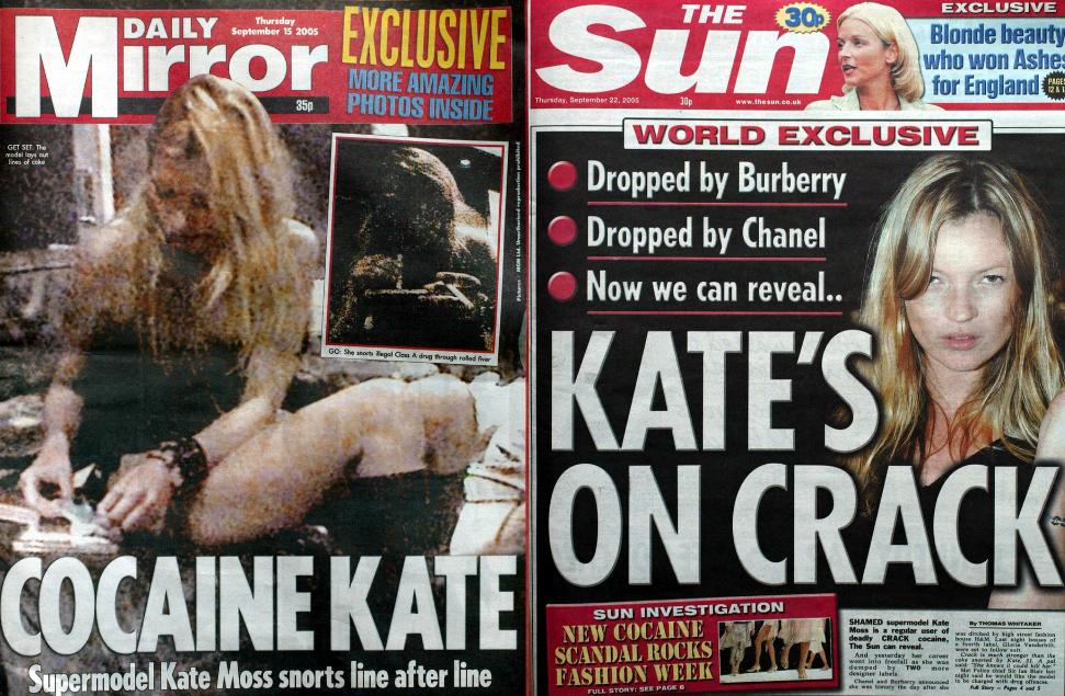 A 2005-ös kokainbotrány nem vetette vissza Kate Moss karrierjét, akkor elszaladt vele a ló