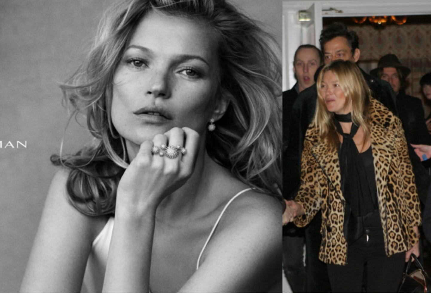 Csoda, hogy az utasok felismerték, látványos a különbség: Kate Moss a reklámban és Kate Moss a valóságban