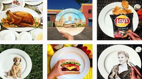 Elképesztően élethű képeket fest tányérokra egy művész – fotók