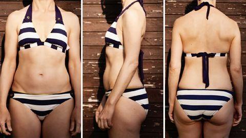 Kipróbáltuk: ezt teszik a fürdőruhák egy átlagos nő testével