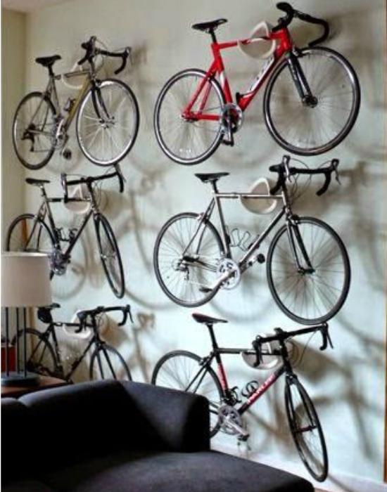Bicikli, bicikli hátán, mégsem foglalnak túl sok helyet. Fotó: pinterest.com