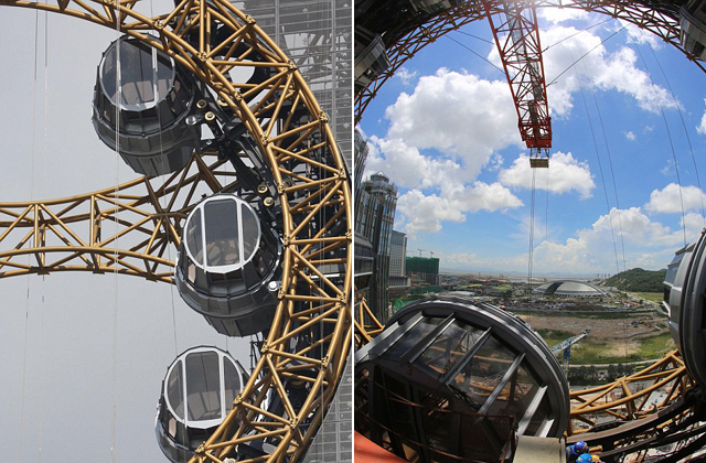 Elkészült a világ első nyolcas alakú óriáskereke