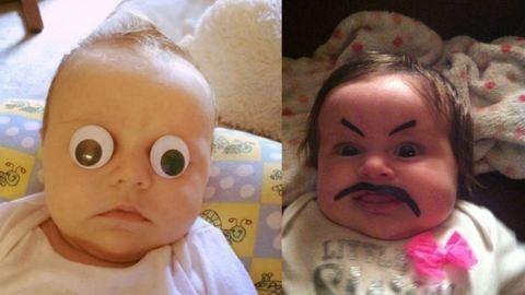21 szülő, aki hülyét csinált a gyerekéből egy fotó kedvéért – vicces képek