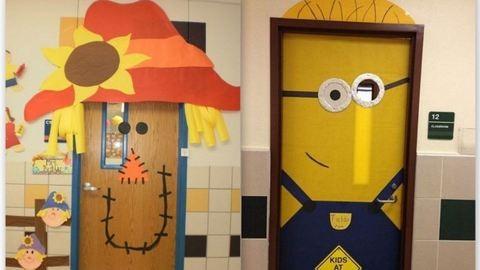 Iskolakezdés: 3 kreatív őszi dekoráció az osztályterem ajtajára