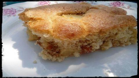 Őszváró őszibarackos-kesudiós süti