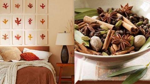 3 őszi dekoráció a hálószobába