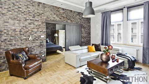 Férfias energiák egy eklektikus lakásban