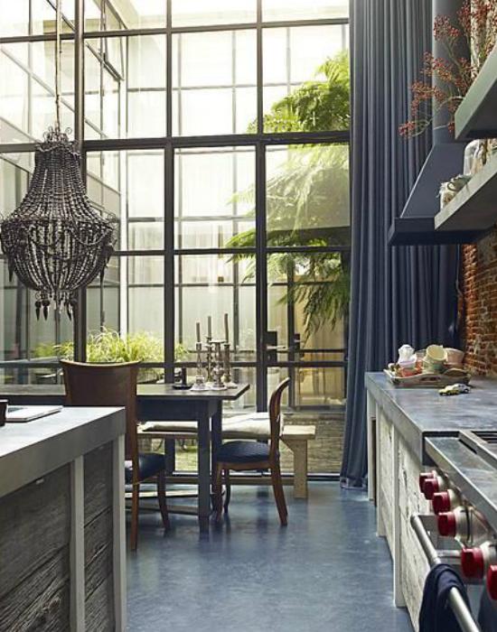 Gyönyörű konyha egy loft lakásban Fotó: pascalhomedesign.hu