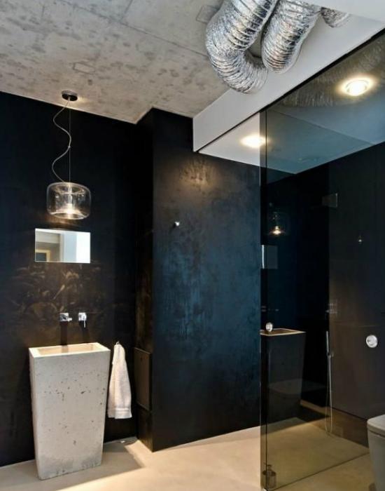 Ilyen egy loft lakás fürdőszobája Fotó: pascalhomedesign.hu