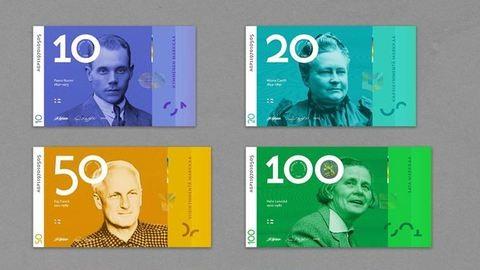 Gendersemleges bankjegyeket tervezett egy finn designer
