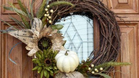 10 gyönyörű őszi ajtódísz